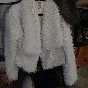 Waist high snuggly white jacket